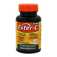 American Health - Ester-C with Citrus Bioflavonoids 500 mg. - 90 Vegetarian Tablets (076630169714)