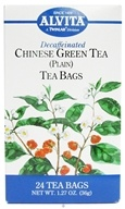 Alvita - Chinese Green Tea (Plain) Caffeine Free - 24 Tea Bags