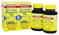 American Health - Royal Brittany Evening Primrose Oil (100+100) Twin Pack Special 500 mg. - 200 Softgels (076630036320)
