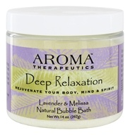 Abra Therapeutics - Aroma Therapeutics Natural Bubble Bath Deep Relaxation Lavender and Melissa - 14 oz.