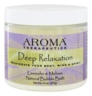 Abra Therapeutics - Aroma Therapeutics Natural Bubble Bath Deep Relaxation Lavender and Melissa - 14 oz. by Abra Therapeutics