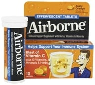 Airborne - Effervescent Health Formula Original Orange - 10 Tablets, from category: Nutritional Supplements