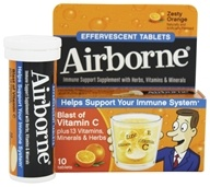 Airborne - Effervescent Health Formula Original Orange - 10 Tablets by Airborne