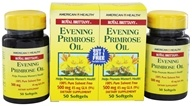 American Health - Royal Brittany Evening Primrose Oil (50+50) Twin Pack Special 500 mg. - 100 Softgels, from category: Nutritional Supplements