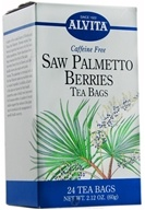 Alvita - Saw Palmetto Berries Caffeine Free - 24 Tea Bags CLEARANCE PRICED