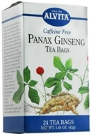 Alvita - Panax Ginseng Caffeine Free - 24 Tea Bags, from category: Teas