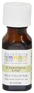 Image of Aura Cacia - Essential Oil Revitalizing Cinnamon Leaf - 0.5 oz.