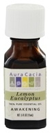 Image of Aura Cacia - Essential Oil Awakening Lemon Eucalyptus - 0.5 oz.