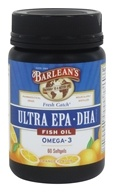 Barlean's - Fresh Catch Fish Oil EPA-DHA High Potency Omega-3 Orange Flavor 1000 mg. - 60 Softgels, from category: Nutritional Supplements