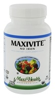 Maxi-Health Research Kosher Vitamins - Maxivite One a Day Multi-Vitamin & Mineral Supplement No Iron - 90 Tablets