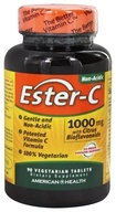 American Health - Ester-C with Citrus Bioflavonoids 1000 Mg. - 90 Vegetarian Tablets (076630169813)
