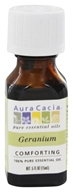 Image of Aura Cacia - Essential Oil Comforting Geranium - 0.5 oz.