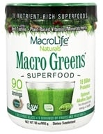 MacroLife Naturals - Macro Greens Nutrient Rich Super Food Supplement - 30 oz. formerly Miracle Greens, from category: Nutritional Supplements