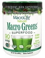 MacroLife Naturals - Macro Greens Nutrient Rich Super Food Supplement - 30 oz. formerly Miracle Greens (054139908010)