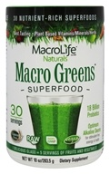 MacroLife Naturals - Macro Greens Nutrient Rich Super Food Supplement - 10 oz. formerly Miracle Greens (054139909000)