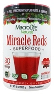 MacroLife Naturals - Miracle Reds Antioxidant Super Food - 10 oz. formerly Miracle Greens (852434001036)