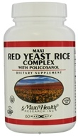 Maxi-Health Research Kosher Vitamins - Maxi Red Yeast Rice Complex With Policosanol - 60 Capsules