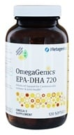 Metagenics - OmegaGenics EPA-DHA 720 Natural Lemon Flavor - 120 Softgels