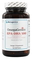 Metagenics - OmegaGenics EPA-DHA 500 Natural Lemon Flavor - 120 Softgels (formerly EPA-DHA Extra Strength) - $31.95