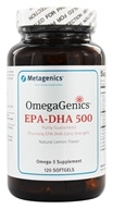 Image of Metagenics - OmegaGenics EPA-DHA 500 Natural Lemon Flavor - 120 Softgels (formerly EPA-DHA Extra Strength)