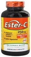 American Health - Ester-C Chewable Wafers Orange Flavor 250 mg. - 125 Wafers