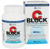 Image of Absolute Nutrition - C-Block Carb & Starch Blocker - 90 Tablets Contains White Kidney Bean Extract