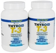 Absolute Nutrition - Thyroid T-3 Original Formula Stimulant-Free (60+60) Twin Pack Special - 120 Capsules (708235088625)