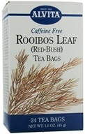 Alvita - Rooibos Leaf (Red Bush) Caffeine Free - 24 Tea Bags (726016350242)