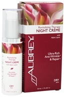 Aubrey Organics - Revitalizing Therapy Night Creme with Alpha Lipoic - 1 oz. Formerly Rosa Mosqueta Night Cream by Aubrey Organics