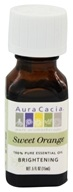 Image of Aura Cacia - Essential Oil Brightening Sweet Orange - 0.5 oz.