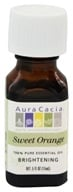 Aura Cacia - Essential Oil Brightening Sweet Orange - 0.5 oz. (051381911294)