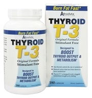 Absolute Nutrition - Thyroid T-3 Original Formula Stimulant Free - 180 Capsules Formerly Thyrox