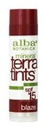 Alba Botanica - Terra-Tints Lip Balm Blaze 15 SPF - 0.15 oz., from category: Personal Care