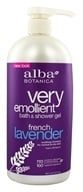 Alba Botanica - Very Emollient Bath & Shower Gel French Lavender - 32 oz., from category: Personal Care