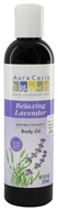Image of Aura Cacia - Aromatherapy Massage Oil Lavender Harvest - 8 oz.