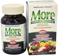American Health - More Than A Multiple Whole Food Concentrates For Men - 90 Tablets, from category: Vitamins & Minerals