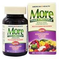 American Health - More Than A Multiple Whole Food Concentrates For Women - 90 Tablets (076630148658)