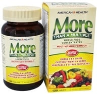 American Health - More Than A Multiple Whole Food Concentrates - 120 Tablets, from category: Vitamins & Minerals
