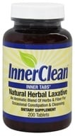 At Last Naturals - InnerClean Inner Tabs Natural Herbal Laxative 640 mg. - 200 Tablets Formerly Innertabs