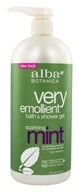 Alba Botanica - Very Emollient Bath & Shower Gel Sparkling Mint - 32 oz. (724742005610)