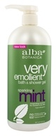 Image of Alba Botanica - Very Emollient Bath & Shower Gel Sparkling Mint - 32 oz.