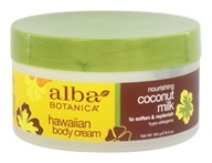 Alba Botanica - Alba Hawaiian Body Cream Coconut Milk - 6.5 oz. - $8.81