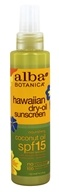 Alba Hawaiian Coconut Dry Oil Natural Sunscreen 15 SPF - 4.5 fl. oz.