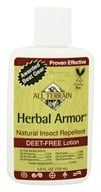 All Terrain - Herbal Armor Insect Repellent Lotion Deet-Free - 4 oz. by All Terrain