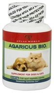 Atlas World - Agaricus Bio Supplement For Cats & Dogs 300 mg. - 60 Capsules (831212003349)