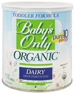 Nature's One - Baby's Only Organic Dairy Based Iron Fortified Toddler Formula - 12.7 oz. by Nature's One