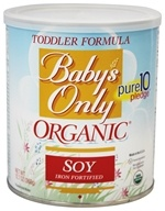 Nature's One - Baby's Only Organic Soy Toddler Formula Iron Fortified - 12.7 oz. by Nature's One