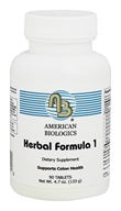 American Biologics - Herbal Formula 1 - 90 Tablets, from category: Professional Supplements