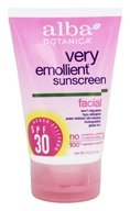 Alba Botanica - Very Emollient Natural Protection Facial Sunblock 30 SPF - 4 oz.