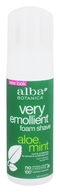 Image of Alba Botanica - Moisturizing Foam Shave Aloe Mint - 5 oz.